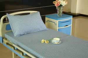 F6 कापूस रुग्णालयात बेड तागाचे ग्रे व्हाइट, 2cm स्ट्रिप