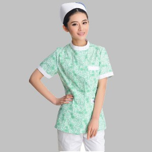 Nurse Suits Printed Short Sleeves