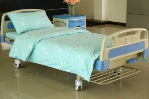Y12 Poly Cotton Hospital Lakanat vihreitä raitoja Flower
