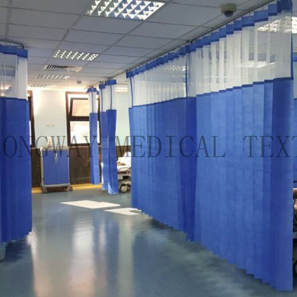 2 disposable FR hospital privacy curtain