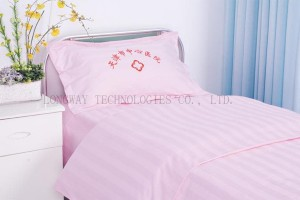 K10 CVC Pink satin StripeHospital Bed lino