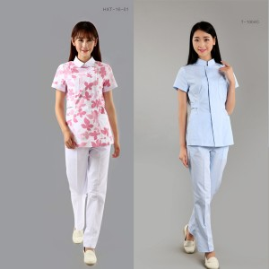 Suits enfermeira Impreso mangas curtas