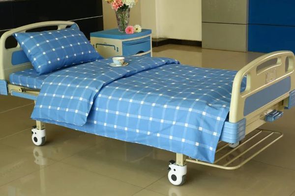 Factory Promotional Custom Patient Gown -  E12 Cotton Checkered Hospital Bed Linen  – LONGWAY