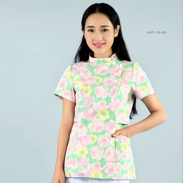 OEM Factory for Decorative Screen Material - Nurse Suits Printed Short Sleeves – LONGWAY