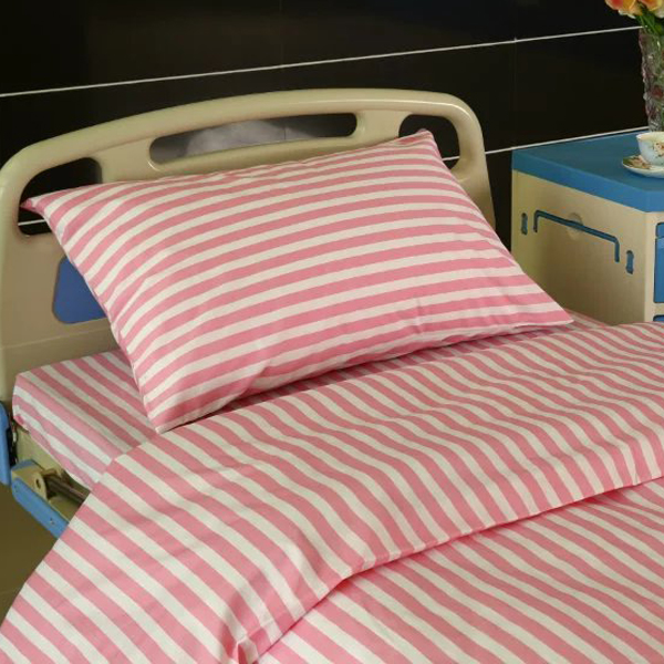 18 Years Factory Modern String Curtain - L4 Polyester Cotton Hospital Bed Linen Pink Stripes – LONGWAY