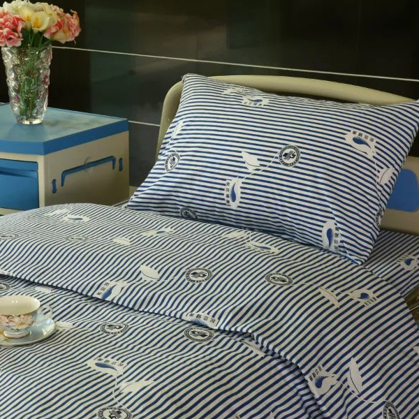 New Delivery for Luxury Golden Lamp Chain Curtain Partition - Y9 Cotton Hospital Bed Linen Blue-white Stripe – LONGWAY
