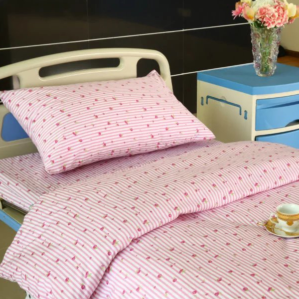 Excellent quality Medical Divider Screen - Hospital Bed Linen with Flower Design – LONGWAY Featured Image