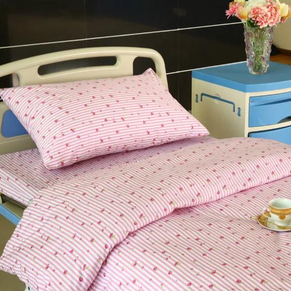 Hospital Sengetoj med blomst Design Featured Billede