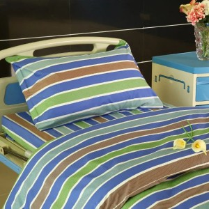 Y21 Cotton Hospital Bed Linen three color Stripes