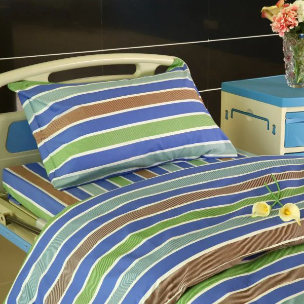 Competitive Price for Sublimation Doorway Curtain - Y21 Cotton Hospital Bed Linen three color Stripes – LONGWAY