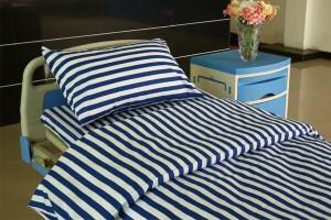 L2 Cotton Hospital Bed Linen Blue White stripes