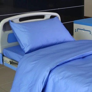 D4 Cotton Blue Color Hospital Bed Linen