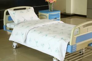 Llit d'hospital cotó de lli amb l'Hospital Logo