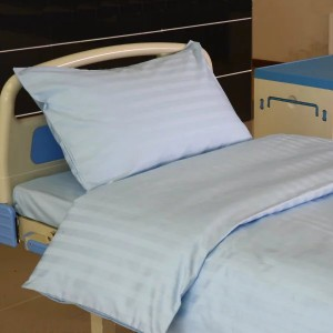 K9 CVC 2cm Satin Stripe Light Blue Color Hospital Bed Linen
