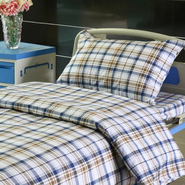 L6 Polyseter Checkered Hospital Bed Linen Featured Image