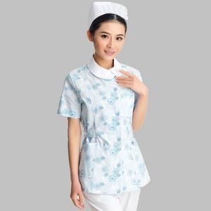 Медицинска сестра костюми Печатни къс ръкав