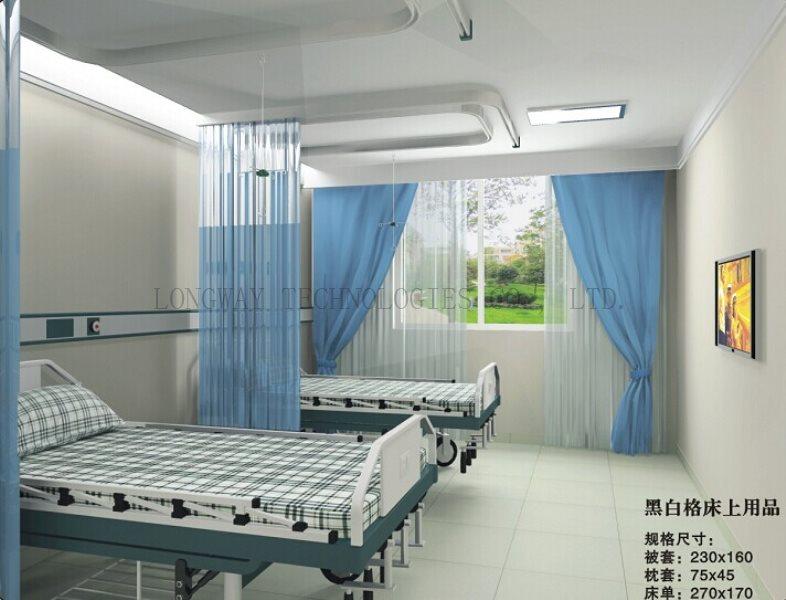 F8 black white check hospita bed sheet