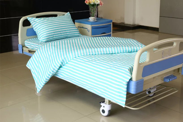 China Gold Supplier for Eyelet Blackout Curtain - L3 Poly Cotton T65C35 Hospital Bed Linen Green White Stripe – LONGWAY