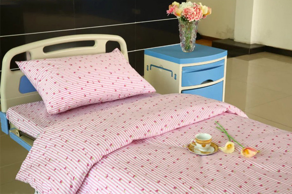 Excellent quality Medical Divider Screen - Hospital Bed Linen with Flower Design – LONGWAY