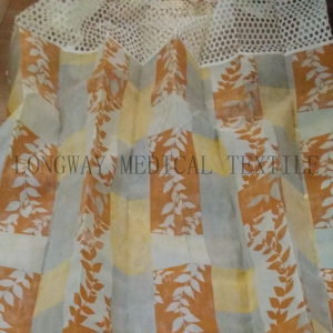 Factory making Ready Made Transparent Woven Polyester Custom Hospital Curtain