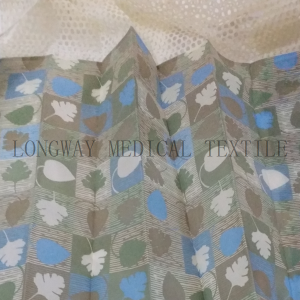PriceList for Satin Stripe Fabric - Printed Non-woven Disposable Hospital Cubicle Curtain – LONGWAY