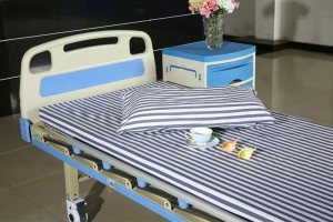 High Quality Hospital Disposable Curtain With Antibacteria - Cotton Navy Stripe Hospital Sheets – LONGWAY