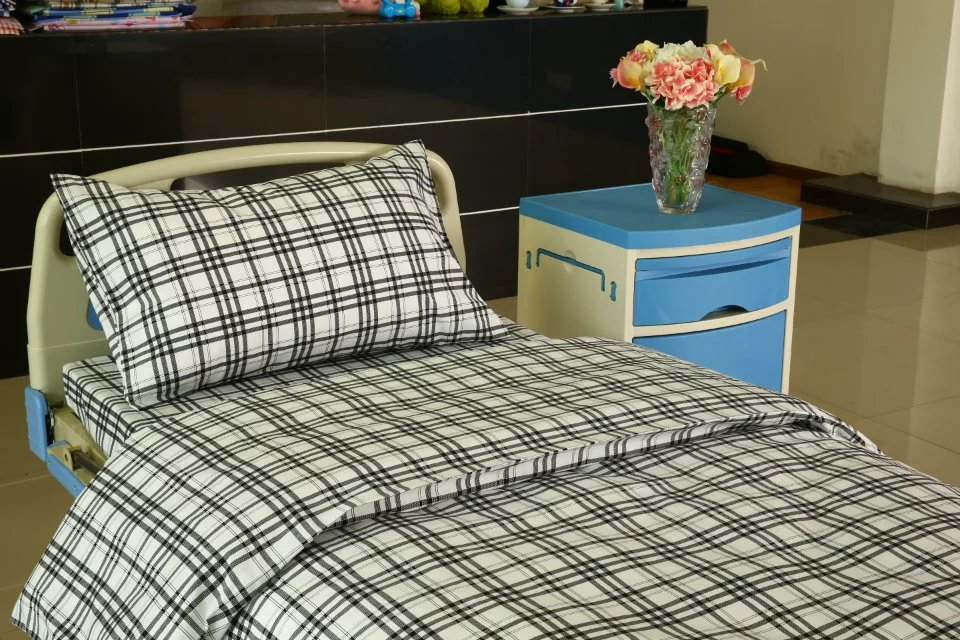 Wholesale Price Bed Sheets 50% Cotton 50% Polyester - Checked Cotton Hospital Bed Sheet – LONGWAY