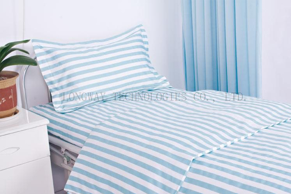 Best quality Ceiling Curtain - Striped Polyester Cotton Hospital Bed Sheets – LONGWAY Featured Image