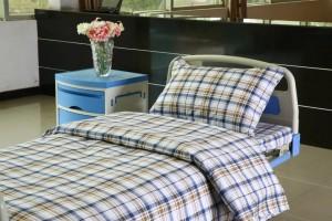 Plaid Scottish Pattern Hospital bed sheet