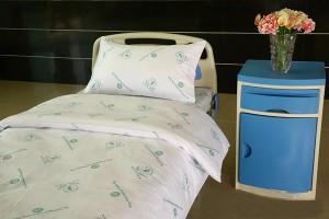 D2 Cotton Bleached White Hospital Bed Linen