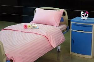 K10 CVC Pink Satin StripeHospital Bed Suit