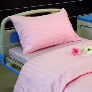 K10 CVC Pink Satin StripeHospital Bed Linen