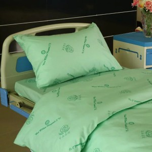 Hospital Bed Linen Cotton Printed with Hospital Logo