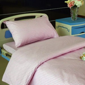 Cotton Hospital E10 pink soo afjarmay Bed Linen