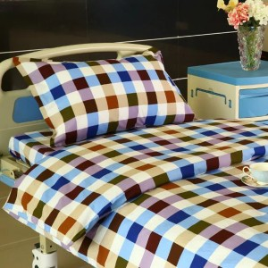 100% Original Fr Prevention Curtain - G13 Cotton Hospital Bed Linen Six-color Big Check – LONGWAY