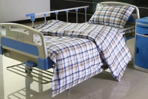 L6 Polyseter Checkered Hospital Bed Linen