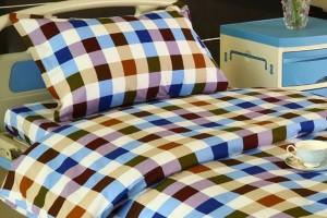 G13 Cotton Hospital Bed Linen Six-color Big Check