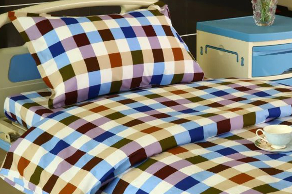 2017 High quality Ceiling Drapery Metal Curtain - G13 Cotton Hospital Bed Linen Six-color Big Check – LONGWAY