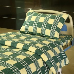 E13 Cotton Hospital Bed lino Yellow-green nga Big Check