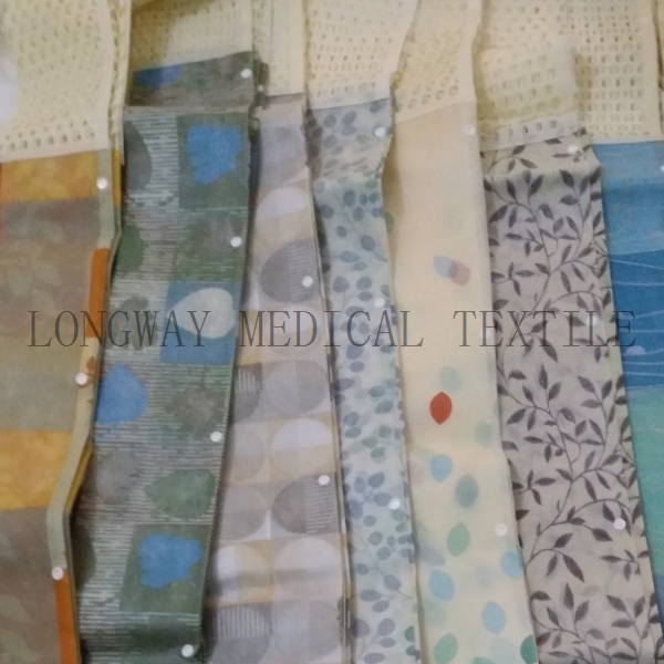PriceList for Rolling Hospital Partition - Double-side Printed Non-woven Disposable Hospital Curtain – LONGWAY
