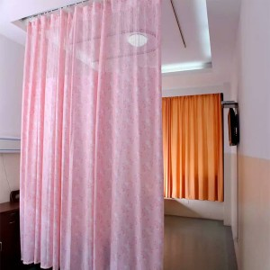 Printed Flame Retardant Anti Microbial Hospital Privacy Curtain