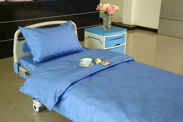 Best Price on Hospital Bed Curtains - D4 Cotton Blue Color Hospital Bed Linen – LONGWAY