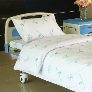 Hospital Bed Cotton Linen la Logo Hospital