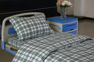F7 Cotton Hospital Bed Linen Green-white Check